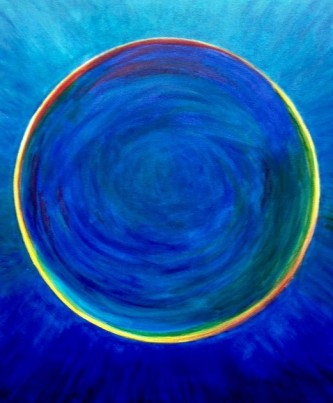 Air bubble in blue #2, Bruckner 2017