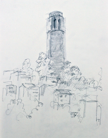Coit Tower drawing 3, Bruckner 07