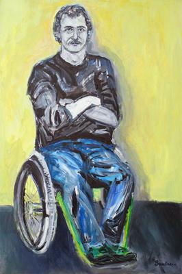 Paul, 36 x 24, acrylic, c.1993