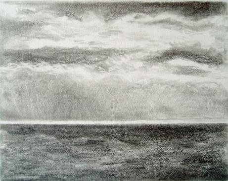 Seascape, graphite 10-26-11