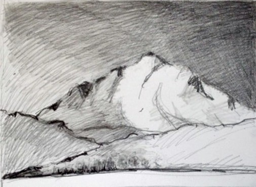 Landscape, pencil, 31 May 2016 #4 v3