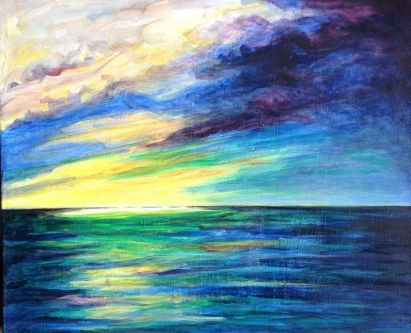 Sky & sea, july 2017 Bruckner