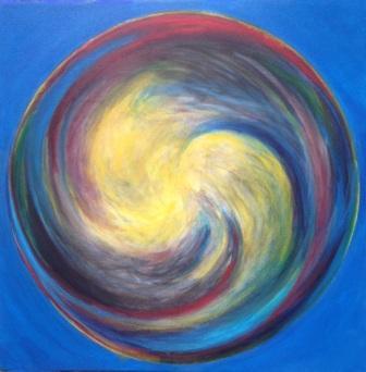 Air bubble spiral #3, Bruckner 2018