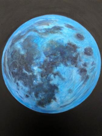 Blue moon -acrylic Bruckner2018