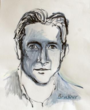 Michael #1, 17 x 14, acrylic on paper, c.1997