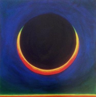 Solar eclipse #10 -acrylic-Bruckner 2019 med v2