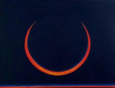 Solar eclipse #6 - -acrylic Bruckner2018