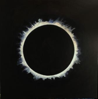 Solar eclipse #9 -acrylic-Bruckner 2019